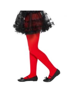 Collants enfant opaques rouges | Accessoires