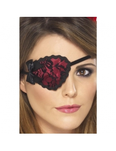 Poche-oeil pirate femme rouge dentelle | Accessoires