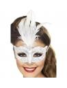 Masque vénitien paillettes argent | Accessoires
