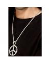 Médaillon argent hippie peace and love + chaîne | Accessoires
