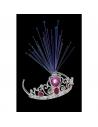 Tiare à fibre optique avec bijoux roses | Accessoires