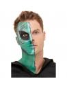 Kit de maquillage à l'eau Extra-terrestre vert (maquillage, adhésifs, prothèse, applicateur) | Accessoires