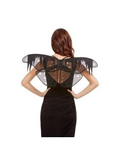 ailes de papillon de nuit en détresse noires 74 cm | Accessoires