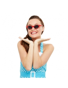 paire de lunettes rock n'roll rouge avecstrass | Accessoires