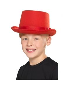 chapeau haut de forme pour enfant rouge | Accessoires