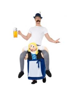 Costume piggyback porté par une bavaroise | Déguisement