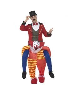 Costume piggyback porté par un clown | Déguisement