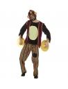 Déguisement Singe adulte (haut, pantalon, masque en EVA et cymbales) | Déguisement