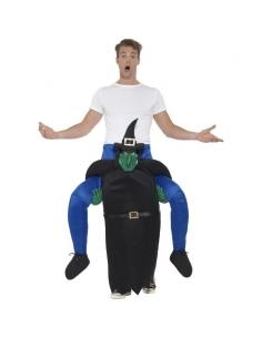 Costume piggyback porté par une sorcière | Déguisement