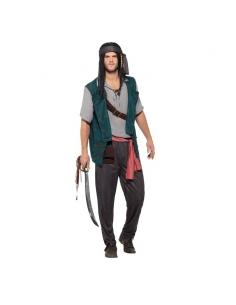Déguisement de pirate vert adulte | Déguisement Homme