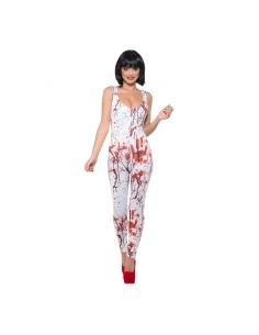 Combinaison femme sexy avec éclaboussures de sang | Déguisement