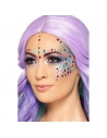 Autocollant bijoux multicolores pour visage   Accessoires