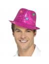 Borsalino rose à sequins et LED multi-fonctions | Accessoires