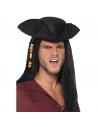 Chapeau tricorne adulte capitaine pirate   Accessoires