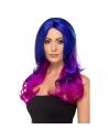Perruque adulte longue bleue et rose   Accessoires