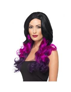 Perruque adulte violette | Accessoires