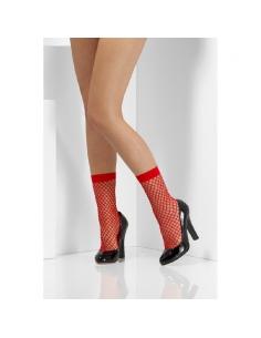 Chaussettes résilles rouges | Accessoires