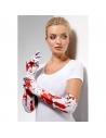 Gants longs avec éclaboussures de sang | Accessoires