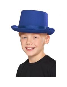 Chapeau haut de forme bleu enfant   Années 20/30 - Charleston