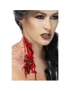 Gorge tranchée adhésive avec sang   Accessoires