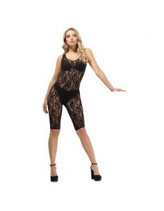 Combinaison femme sans manches dentelle noire   Sexy