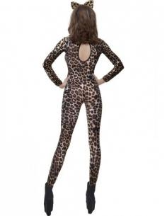 Justaucorps léopard brun/noir | Déguisement