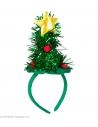 Serre-Tête Mini Chapeau Sapin de Noël décoré