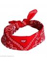 Véritable Bandana rouge 100% coton
