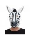 Masque intégral Zèbre (Latex - Adulte)