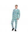 Déguisement Oktoberfest Bleu Homme (veste, pantalon, cravate)