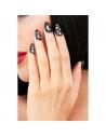 12 faux ongles galactiques noir avec adhésif