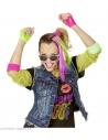 FILLE ANNEES 80 (2 extensions cheveux neon, boucles d'oreille, gantset lunettes)