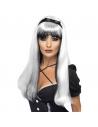 Perruque sorcière longue noir et argent | Accessoires