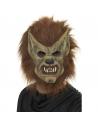 Masque loup marron souple avec fourrure | Accessoires