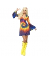 Robe tie dye hippie multicolore | Déguisement