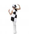 Robe années 60 damier noir et blanc   Déguisement