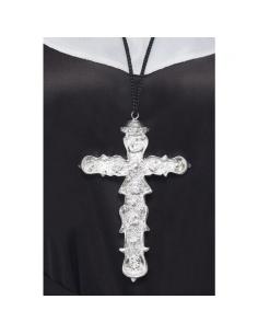 Pendentif croix avec cordon noir   Accessoires