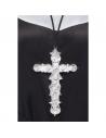 Pendentif croix avec cordon noir | Accessoires