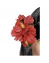 Fleur Hawaï rouge montée sur clip | Accessoires