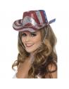 Chapeau cow-boy paillettes tricolore | Accessoires