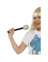 Microphone 25 cm paillette argent | Accessoires