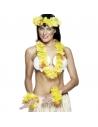 Set hawaïen tissu jaune | Accessoires