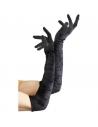 Gants longs de velours noir | Accessoires