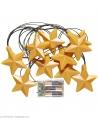 Guirlande Etoiles Lumineuses de 2,5 m - 10 lampes - à batterie