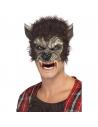 Demi-masque loup avec fourrure | Accessoires