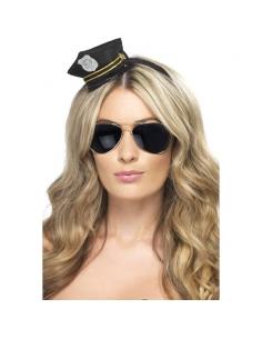 Serre-tête mini chapeau policier   Accessoires