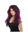 Perruque noire et rose | Accessoires