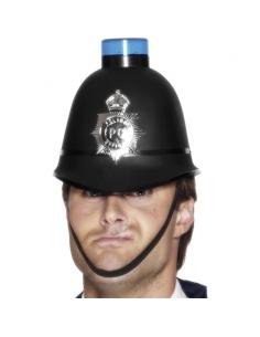 Casque de policier avec gyrophare bleu | Accessoires