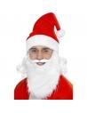 Kit Père Noël Adulte (barbe, lunettes, bonnet avec cheveux)