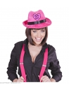 FEUTRE VELOURS ROSE PARTY GIRL